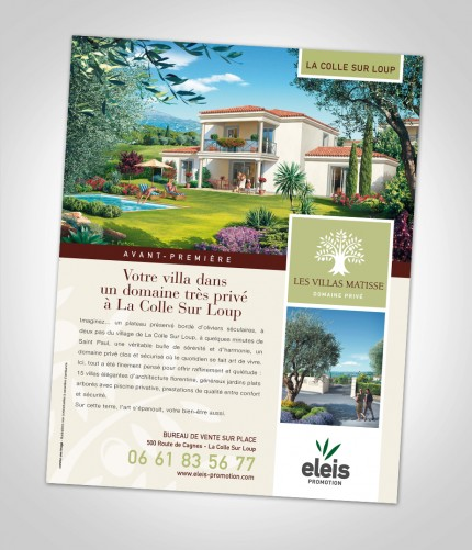campagne presse Les Villas Matisse